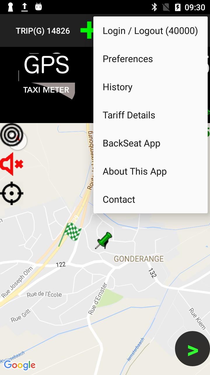 Taximeter-GPS / BACKSEAT Integration